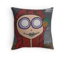 Graveyard Girl Throw Pillow