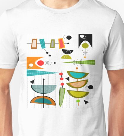 Mid-century Modern Abstract #55 Unisex T-Shirt