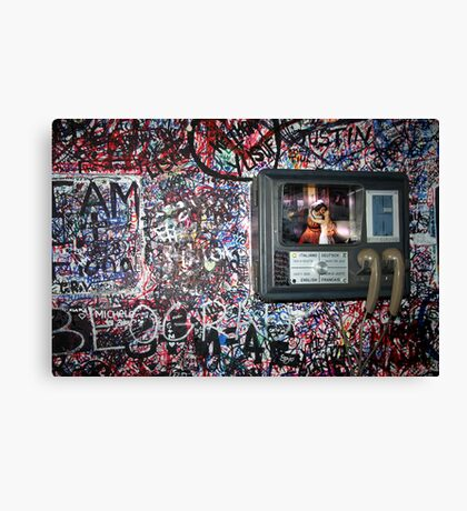 Lovers Leave Their Mark Canvas Print