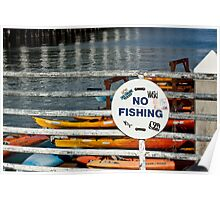 No Fishing   -  A World of Words Poster