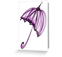 Purple Umbrella Greeting Card
