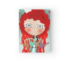 Red hair mushroom doll and company Hardcover Journal