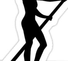 Stand up paddling Sticker