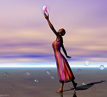 Reaching for a Cure by Sandra Bauser Digital Art