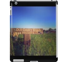 Old Dairy Road Private iPad Case/Skin