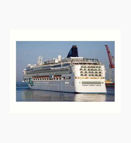 Large cruise liner Art Print