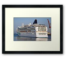 Large cruise liner Framed Print