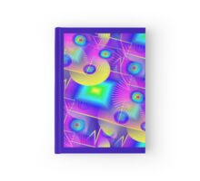 Retro-80s Rainbow Seamless Hardcover Journal