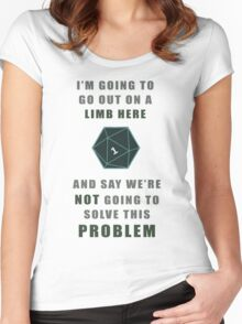 Problem solving Women's Fitted Scoop T-Shirt