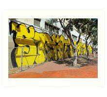 Upscale StreetArt in Yellow Art Print