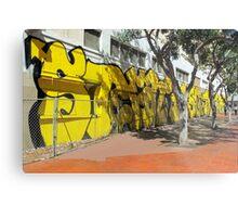 Upscale StreetArt in Yellow Metal Print