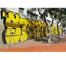 Upscale StreetArt in Yellow Photographic Print