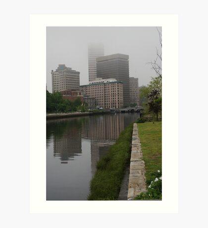 Foggy morning in Providence Art Print