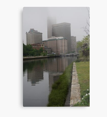 Foggy morning in Providence Metal Print