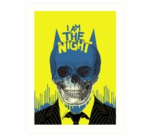 I Am The Night Art Print