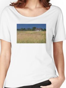 Old Farm House On a Stormy Day Women's Relaxed Fit T-Shirt