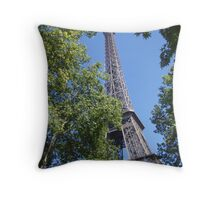 The Eiffel Tower sky view Throw Pillow