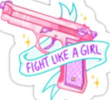 FIGHT LIKE A GIRL / GUN Sticker