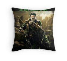 All Hail King Loki Throw Pillow