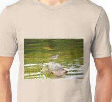 Bird posing on a rock Unisex T-Shirt