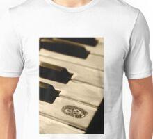 Grunge piano keys Unisex T-Shirt