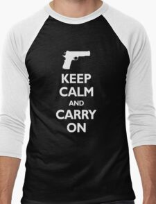 Keep Calm And Carry On - Gun Rights Men's Baseball ¾ T-Shirt
