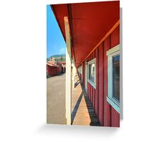 Red Frontier  Greeting Card