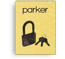 Parker (Leverage) minimalist poster Canvas Print