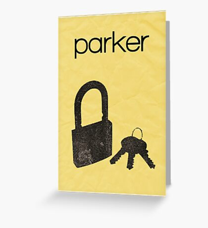 Parker (Leverage) minimalist poster Greeting Card
