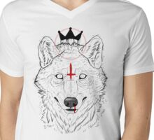 The Wolf King Mens V-Neck T-Shirt