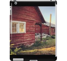 Rustic abandoned red cottage  iPad Case/Skin