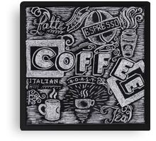 Coffee Chalk Sketch Canvas Print
