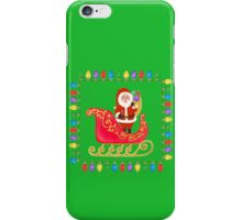 Santa in his Sleigh iPhone Case/Skin