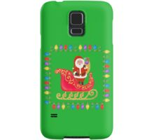 Santa in his Sleigh Samsung Galaxy Case/Skin