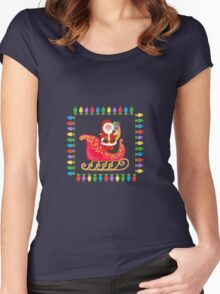 Santa in his Sleigh Women's Fitted Scoop T-Shirt