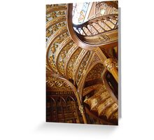 STAIRS in a Historic Bookstore - Oporto, Portugal Greeting Card