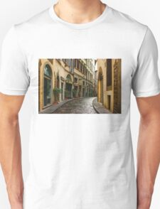 Impressions Of Florence - Walking on the Silver Street in the Rain T-Shirt