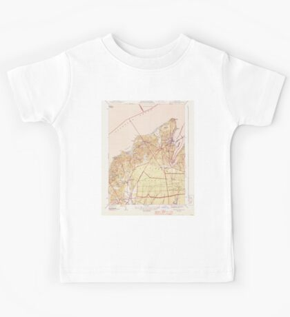 Massachusetts  USGS Historical Topo Map MA Vineyard Haven 352283 1944 31680 Kids Tee