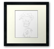 Jester skull Framed Print