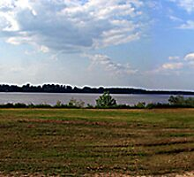Mississippi River at Natchez MS Panorama by wolfepaw