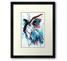 Samurai Shark Framed Print