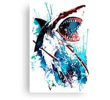Samurai Shark Canvas Print