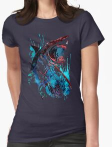 Samurai Shark Womens Fitted T-Shirt