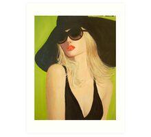 LADY IN A BLACK HAT Art Print