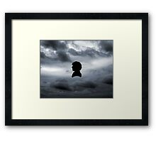 Sherlock in the Clouds Framed Print