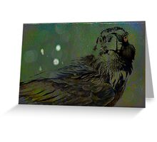 A Crow for Andy Warhol Greeting Card