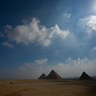 Pyramids at Giza by david marshall