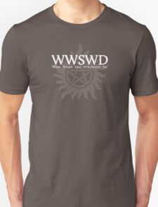 WWSWD What Would Sam Winchester Do (Dark Colors) T-Shirt