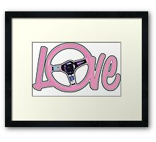 Race girl love Framed Print