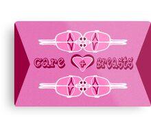 Care 4 Breasts Metal Print
